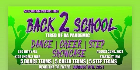 Back to school dance showcase tickets