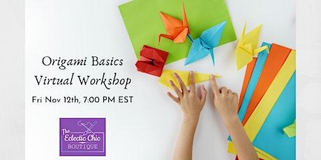 Origami Basics Virtual Workshop tickets
