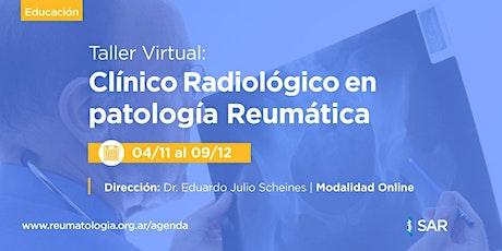 Taller virtual clínico radiológico en patología reumática entradas