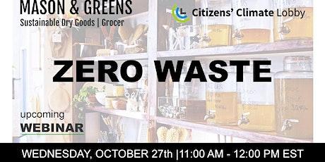Zero Waste Webinar: Citizens' Climate Lobby + Mason & Greens tickets