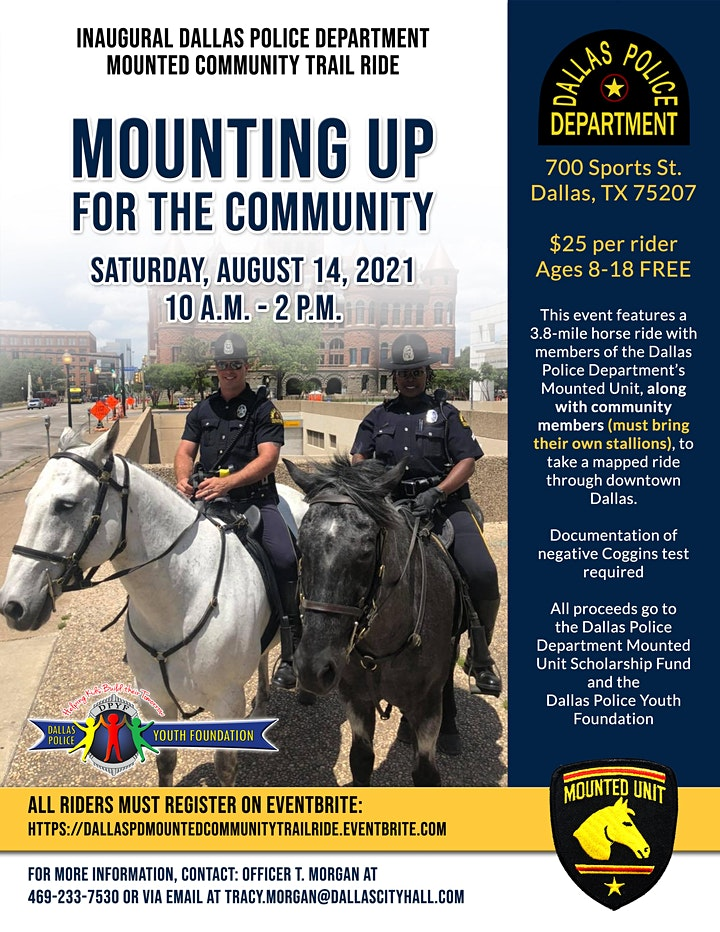 Dallas Police Department  Mounted Community Unity Trail Ride image