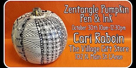 Zentangle Pumpkin tickets