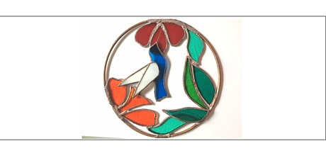 COPPER FOILED STAINED GLASS - Bird and Flowers tickets