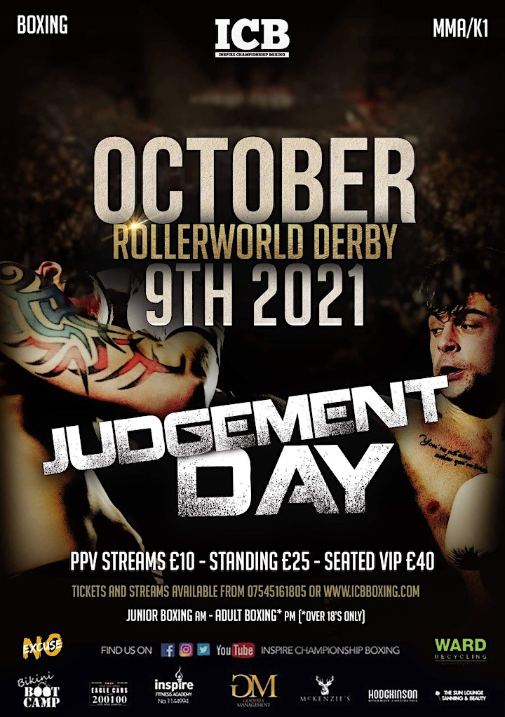 October 9th Judgement Day Boxing Event image