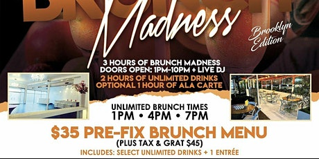Brunch Madness, 2hr bottomless brunch and Dinner Party tickets