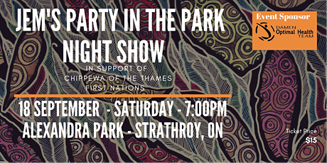 Jem's Party in the Park tickets