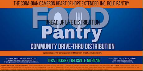 BOLD Pantry Drive-Thru FREE FOOD HAMPER Giveaway tickets