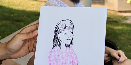 Watercolor Portrait Painting in a Park tickets