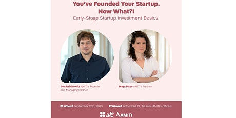 You've Founded Your Startup. Now What?! billets