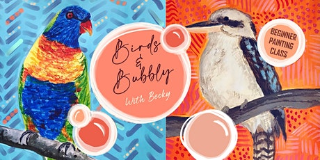 Birds and Bubbly: Painting Class tickets