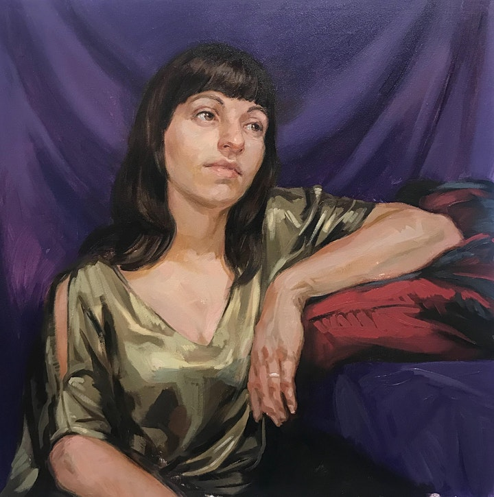 Portrait Painting In Oils image