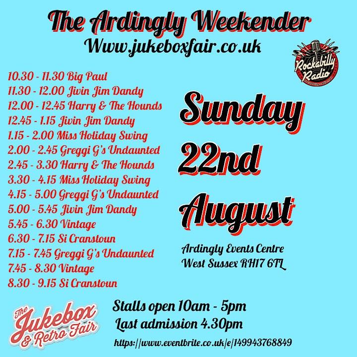 Jukebox & Retro Fair - The Ardingly Weekender image