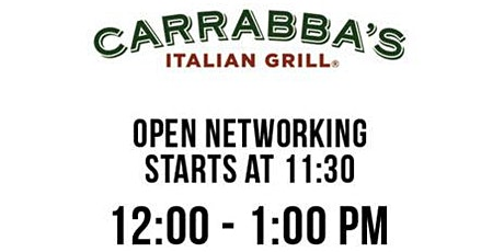 Brandon's best Professional Networking Lunch meeting, at Carrabba's tickets