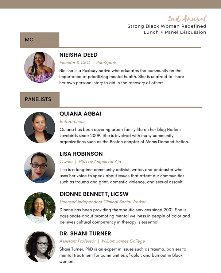 2nd Annual Strong Black Woman Redefined Lunch + Panel Discussion image