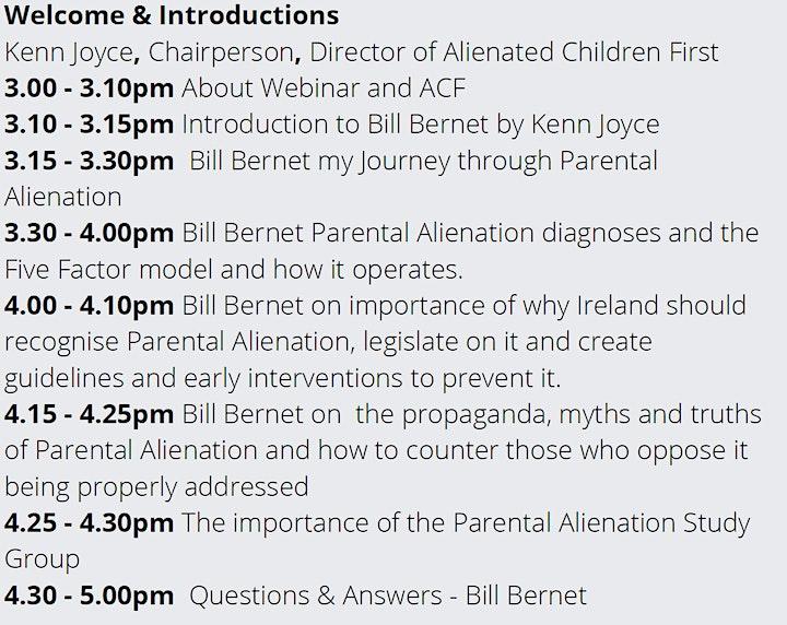 Solutions for Parental Alienation - ACF Webinar Series 3 image