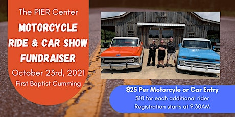 The PIER Center Motorcycle Ride & Car Show Fundraiser tickets