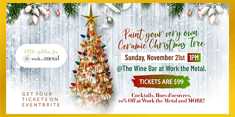 Paint your very own Ceramic Christmas Tree at The Wine Bar tickets