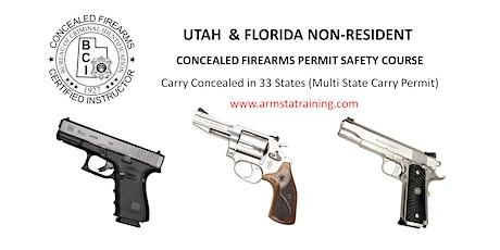 Combo Utah & Florida Non Resident Handgun Permit Course tickets