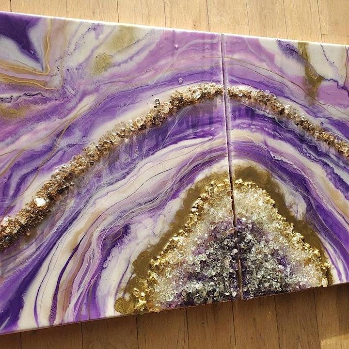 Resin Geode Workshop image