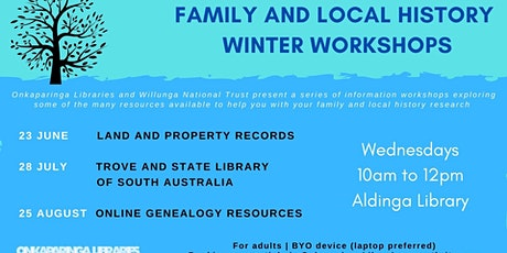 Family and Local History Winter Workshops: Trove & State Library of SA tickets