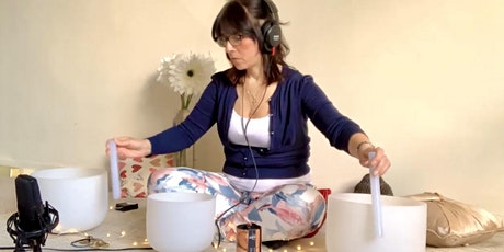 Virtual Live Crystal Bowl Sound Healing with Guided Meditation tickets