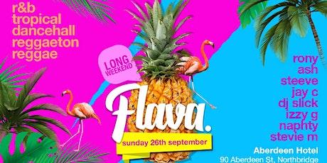 FLAVA | SUNDAY LONG WEEKEND EDITION tickets