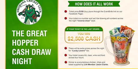 The Great Hopper Cash Draw Night tickets