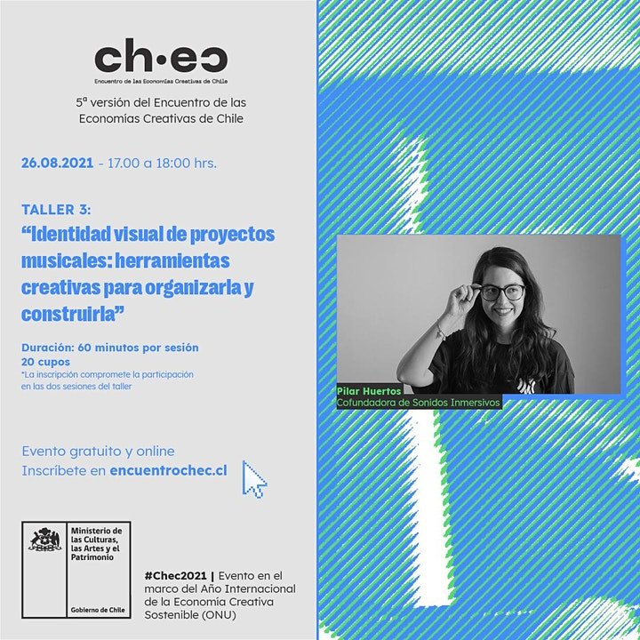 Imagen de CHEC 2021: Identidad visual de proyectos musicales