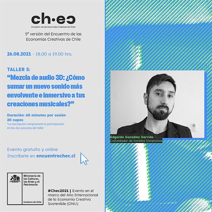 Imagen de CHEC 2021: Mezcla de audio 3D