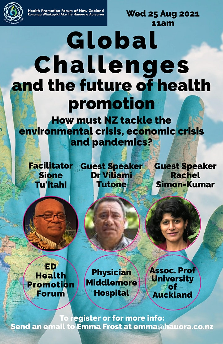 Global challenges and the future of health promotion for Aotearoa NZ image
