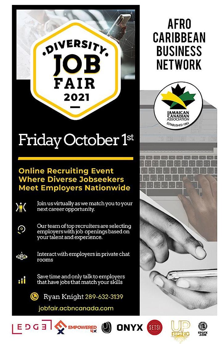ACBN Diversity Job Fair -  Presented by Jamaican Canadian Association image