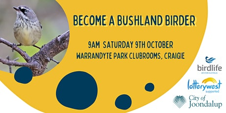 Become a Bushland Birder tickets