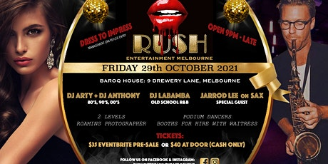 RUSH 80's, 90's, 00's and RnB HALLOWEEN Dance Party tickets