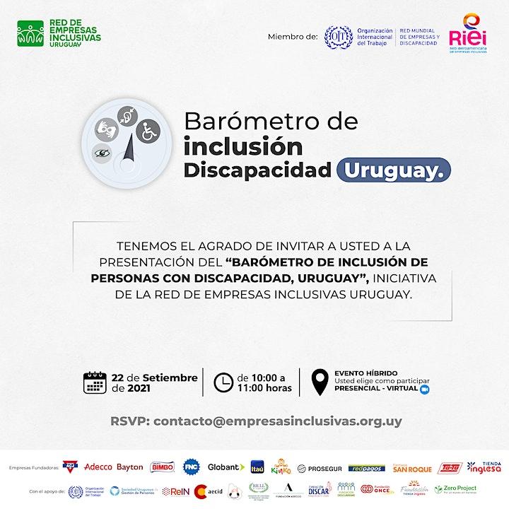 """Imagen de Presentación del """"Barómetro de inclusión discapacidad Uruguay"""""""