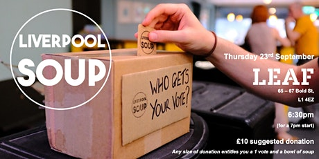 Liverpool SOUP (September 2021) tickets