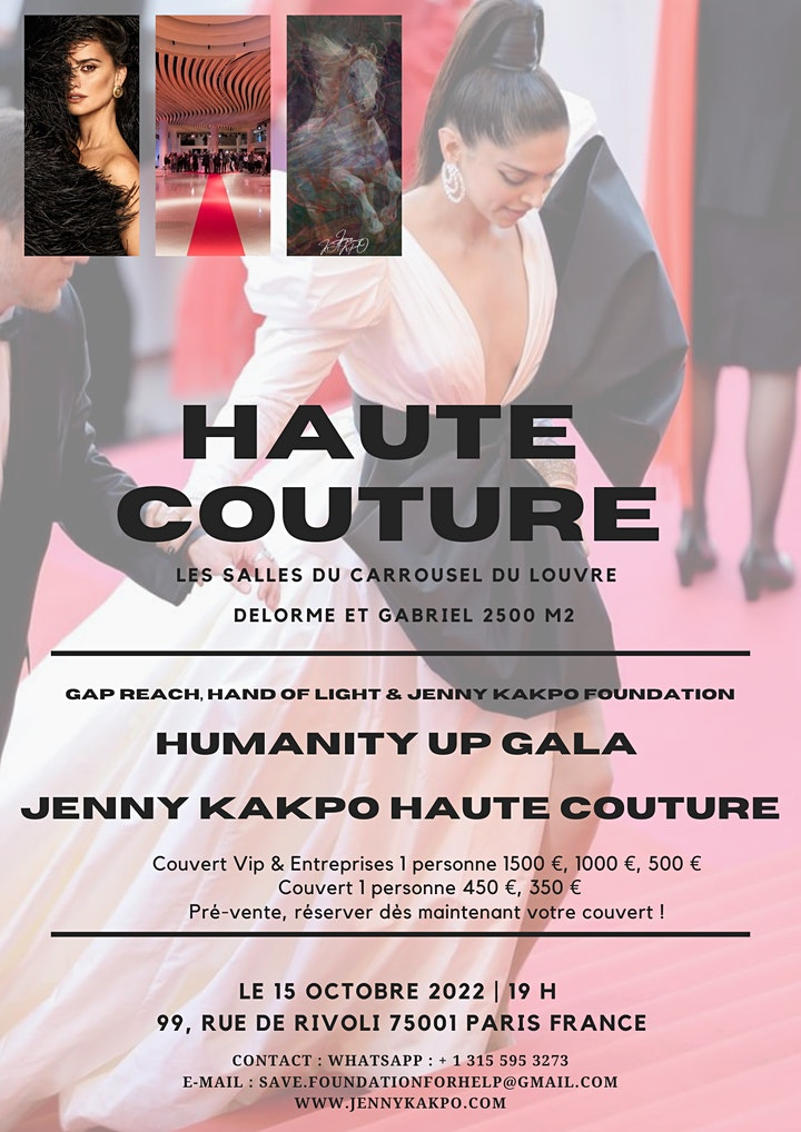 Image pour Reseveration Humanity up Gala Jenny KAKPO HAUTE COUTURE Carrousel du Louvre