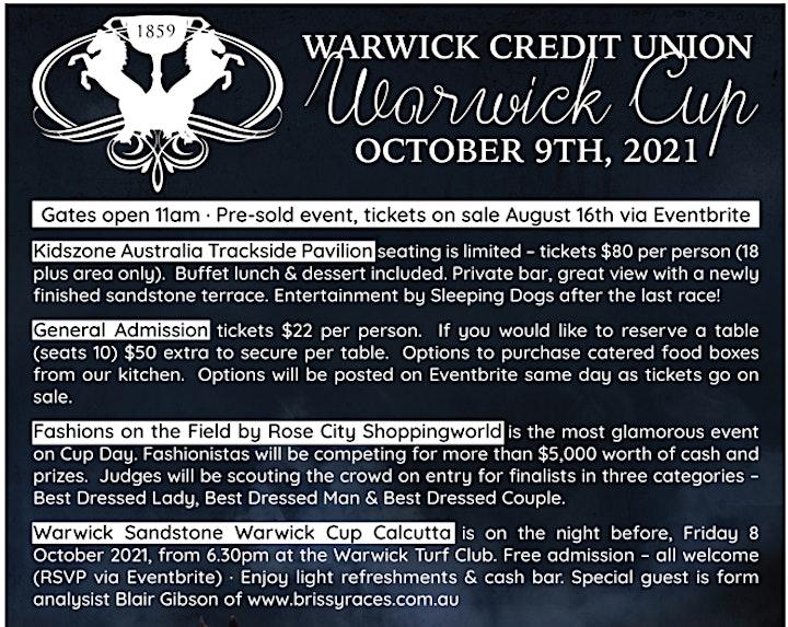 Warwick Credit Union Warwick Cup 2021 image