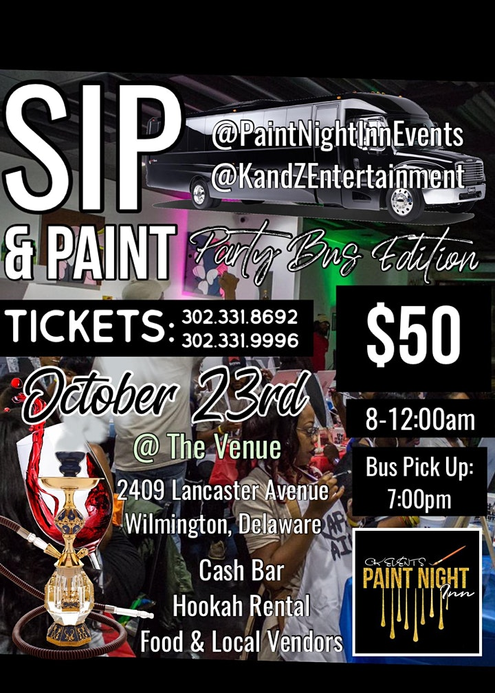 SIP & PAINT: Party Bus Edition image