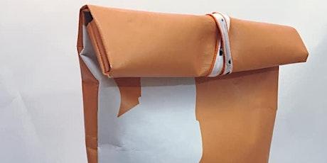 Upcycling-Nähworkshop: Rucksack aus Werbebanner Tickets