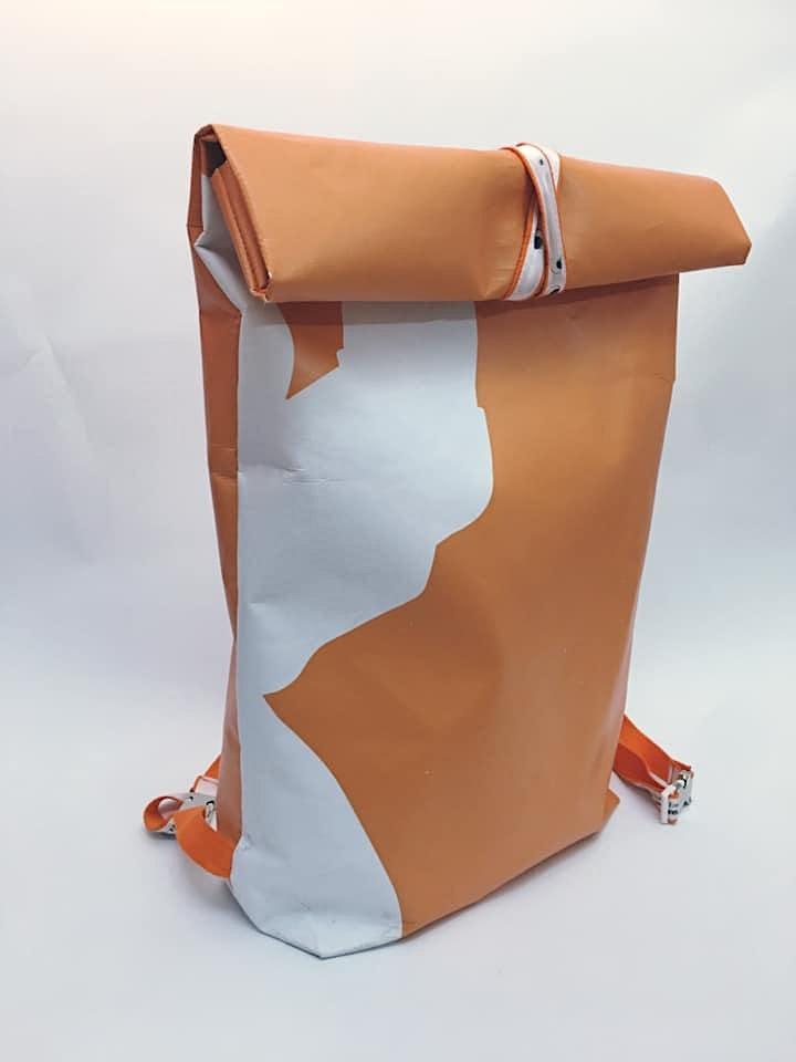 Upcycling-Nähworkshop: Rucksack aus Werbebanner: Bild
