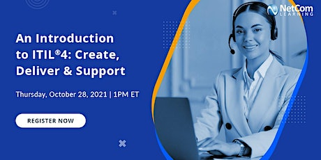 Webinar-An Introduction to ITIL®4: Create, Deliver & Support tickets
