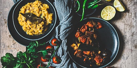 Sri Lankan online cooking class aubergine curry and dhal tickets