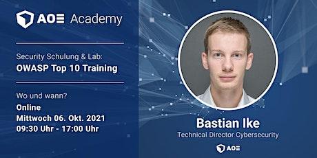 IT Security nach OWASP Top 10 Training - AOE Academy tickets