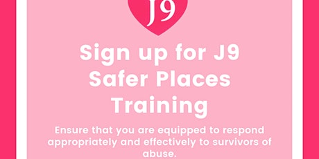 J9 Safer Spaces Training tickets