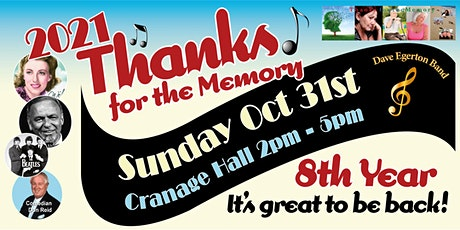 Thanks for the Memory Big Band Concert 2021 - 100 years of Music. tickets