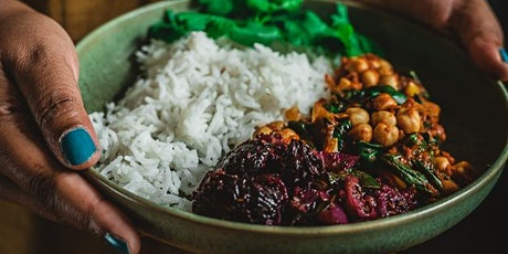 Sri Lankan online cooking class chickpea & spinach curry w spiced beetroot tickets
