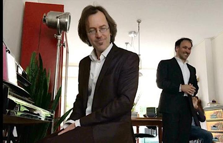 Afbeelding van Kees Franse en Lucien Nix - 'Een gesprek met Frank Boeijen en Jacques Brel'