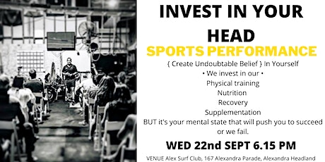 Invest in Your Head  Sports Performance tickets