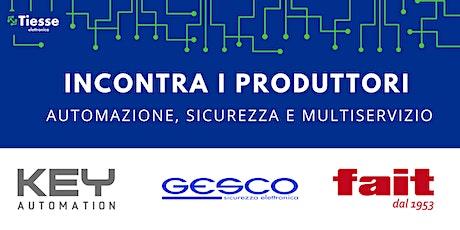 Incontra i produttori: Key Automation, Gesco e FAIT biglietti
