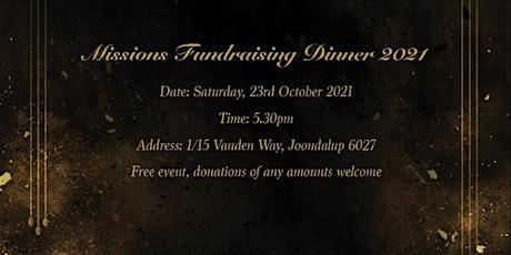 Missions Fundraising Dinner 2021 tickets